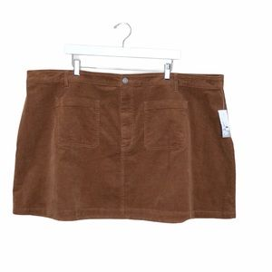 BP Nordstrom stretch corduroy mini skirt
